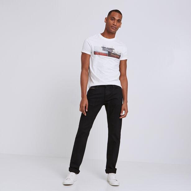 Straight jeans, selvedge zwart