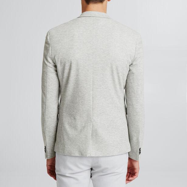 Veste maille piquée gris clair