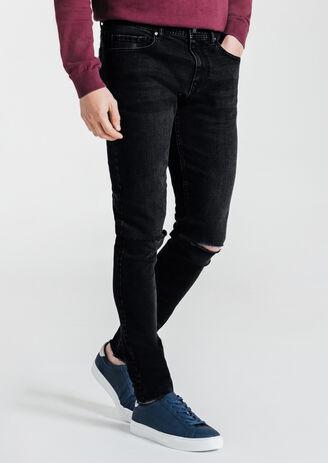 Jeans skinny destroy découpe genoux