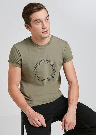 Tee shirt col rond imprimé