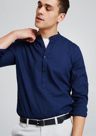 Licht regular hemd