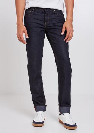 Straight jeans 4L, ruw