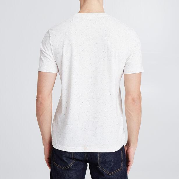 T-shirt met fietsprint en opdruk 'Club de France,