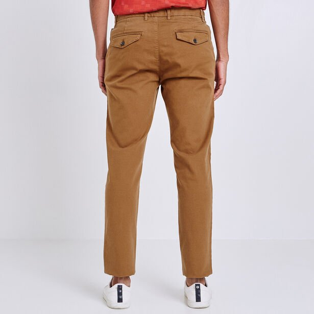 Straight chino canvas garment dyed