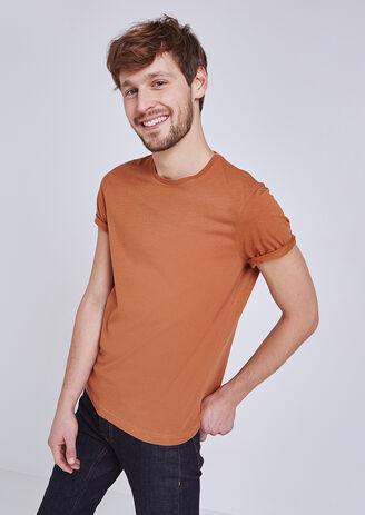 Effen T-shirt ronde hals
