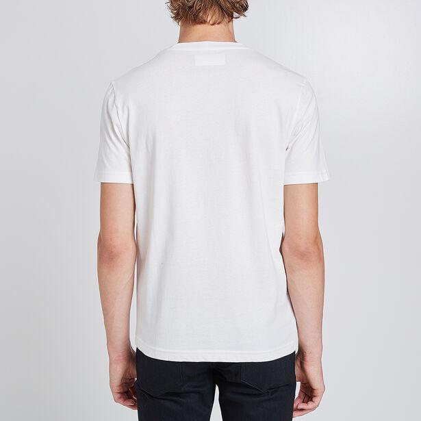 T-shirt ronde hals, opdruk 'Freedom'