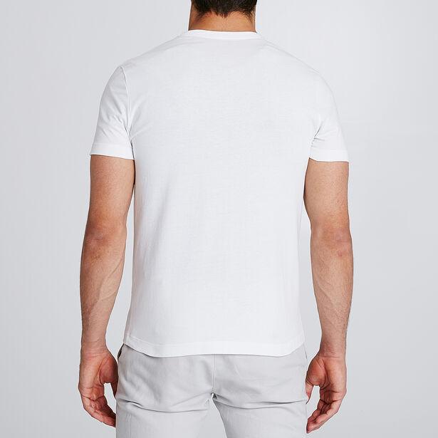 Slim T-shirt met print vooraan