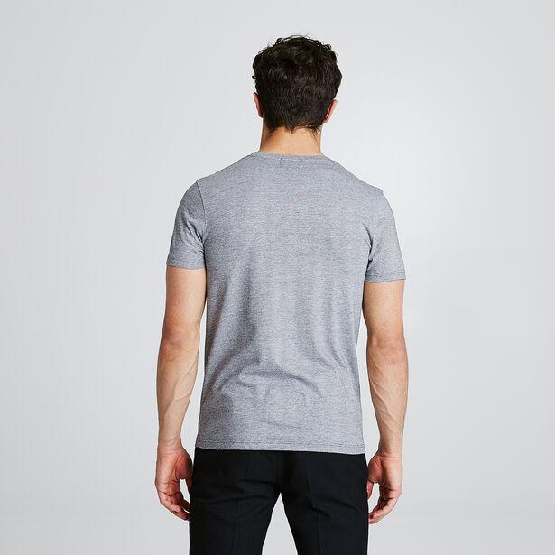 T-shirt met microstrepen en opdruk vooraan 'New St