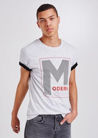 T-shirt ronde hals, met opdruk 'modern.