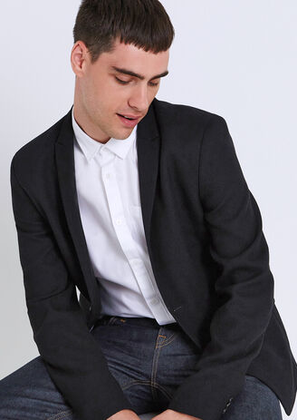 Veste blazer slim maille piquée