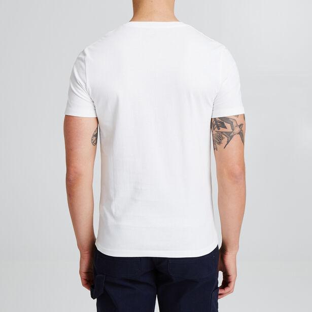 T-shirt met V-hals, opdruk 'Break the time'