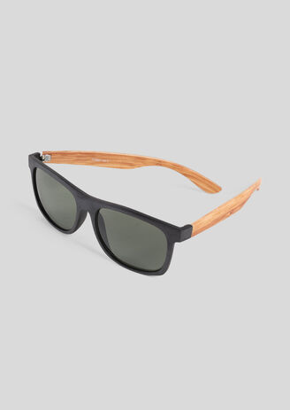 Zonnebril, armen met houteffect