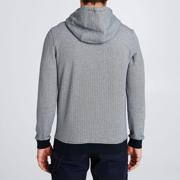 Sweater met kap en microstrepen