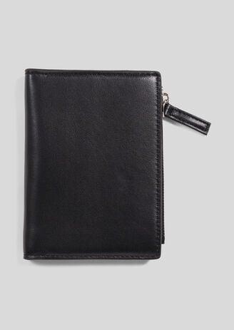 Zwarte leren portefeuille