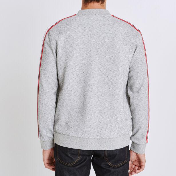 Sweater met opstaande kraag in fantasietricot