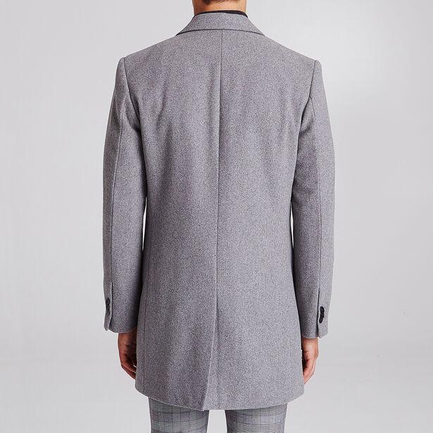 Lange mantel met reverskraag
