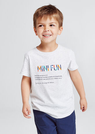 7595c6cb7ee tee shirt enfant imprimé MINI FUN avec sa définiti