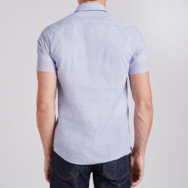 Chemise manches courtes imprimée Slim