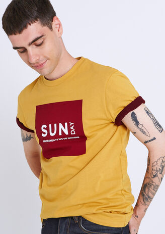 "Tee shirt col rond semainier ""Sunday"""