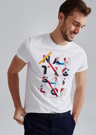 T-shirt met opdruk 'nautic sailor'