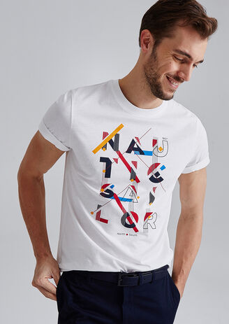 T-shirt met opdruk 'nautic sailor'