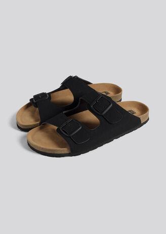 Sandalen met dubbele gesp
