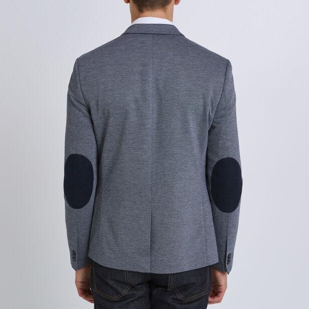 Vest in tricot met elleboogstukken