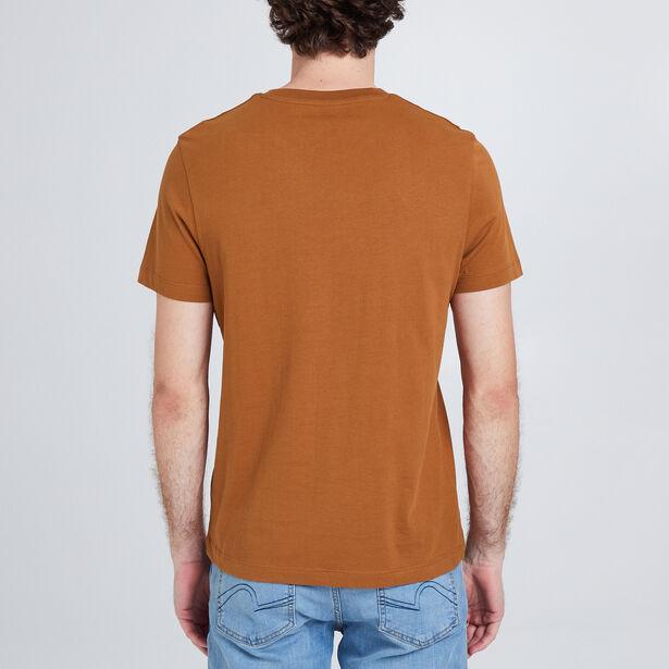 Tee shirt col rond avec imprimé message