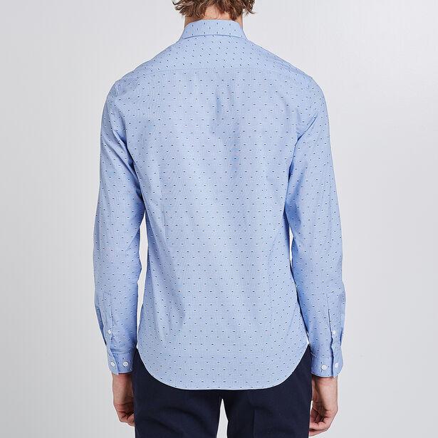 Slim geborduurd hemd