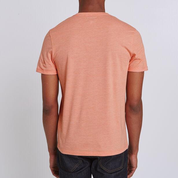 Tee shirt col rond micro-rayé