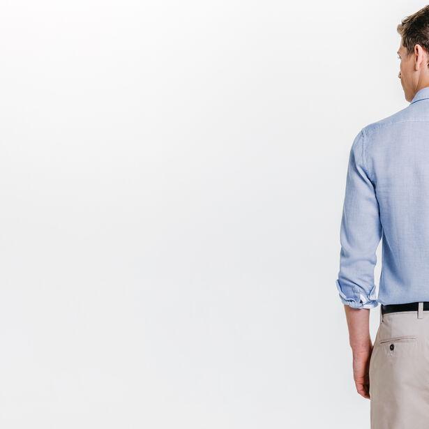283be5dfb1f Geborduurd hemd, slim Hemelsblauw Mannen - Jules