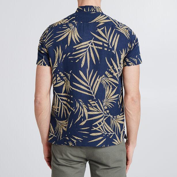 Regular linnen hemd met print