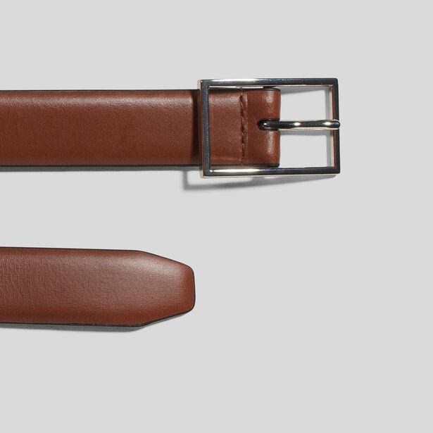 Cintura in pelle fibbia argentata