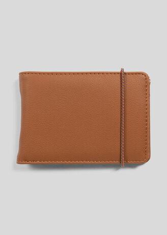Camelkleurige portefeuille