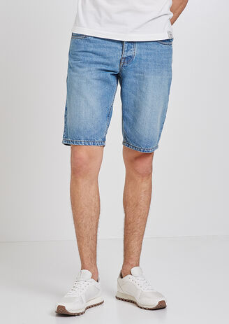 Bermuda in denim stone washed