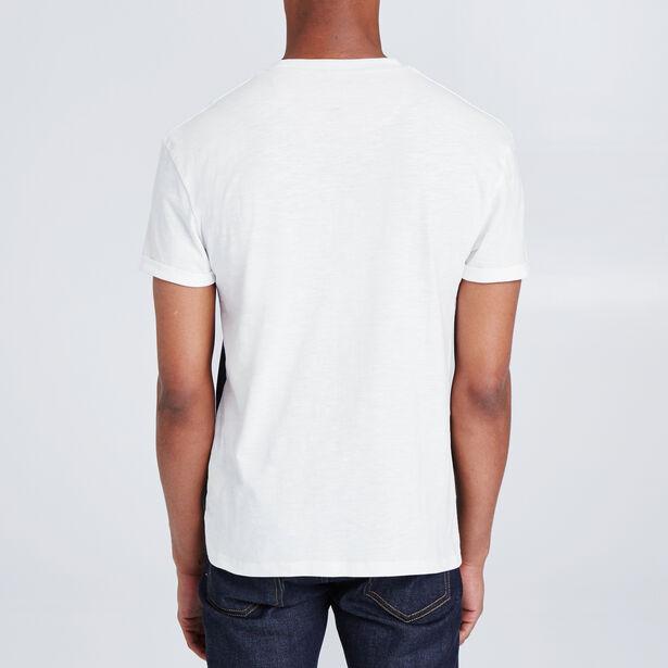 Colorblock T-shirt in fantasiestof, borstzak met p