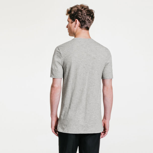 Tee-shirt col rond maille flammée