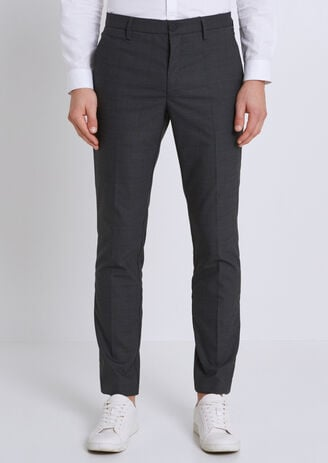 Pantalon de costume à carreaux extra slim