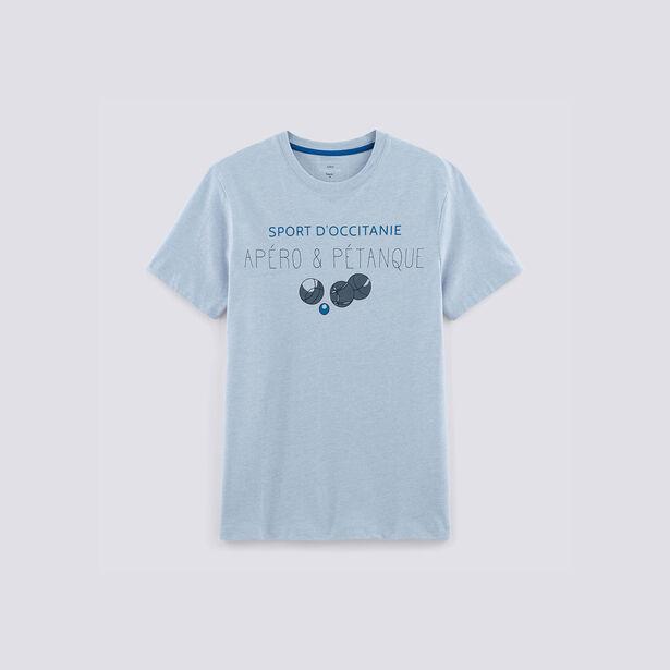 Tee shirt imprimé Apero et pétanque région LANGUED