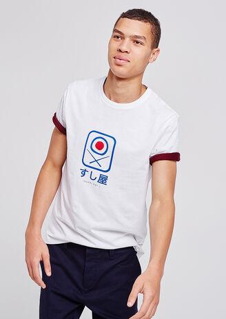 Tee shirt col rond imprimé sushis