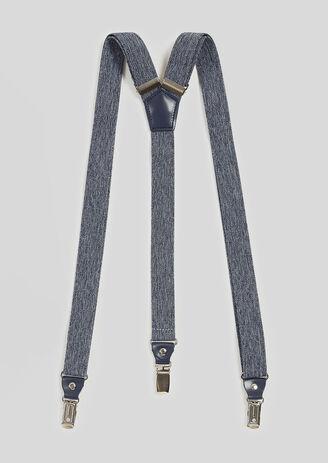 Bretels in chambray, marineblauw