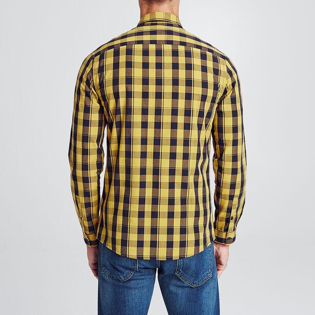 Slim hemd met vichyruitjes