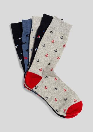 Lot de 5 paires de chaussettes homme fantaisie