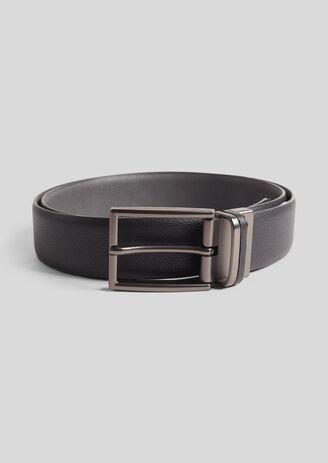 Omkeerbare riem, zwart en grijs, met gesp