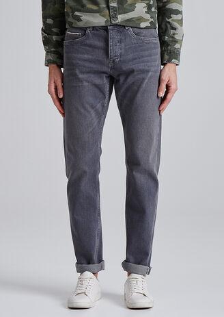 Jean Selvedge straight gris