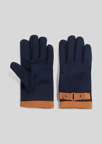 Handschoenen in een mix van stoffen