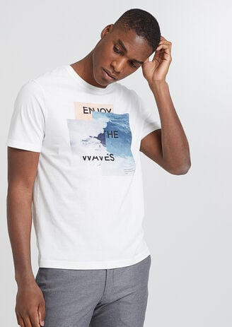 Tee shirt photoprint vagues