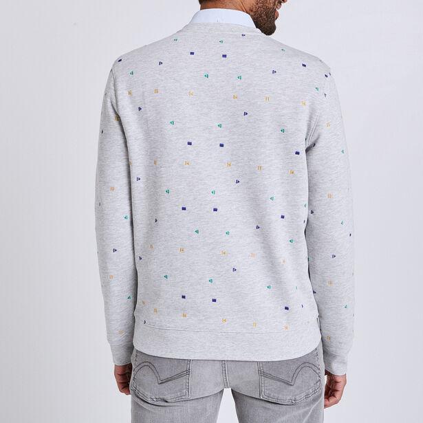 Sweater met ronde hals en geborduurde motieven