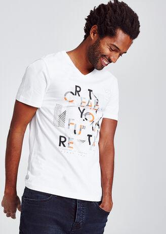 Slim T-shirt met grafische print