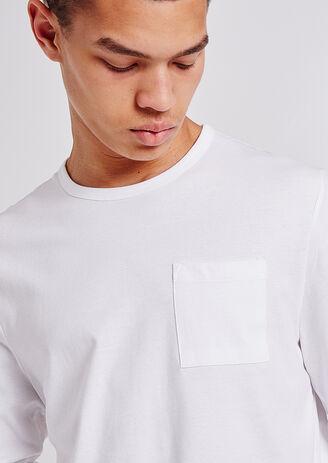 T-shirt collo rotondo a maniche lunghe basic